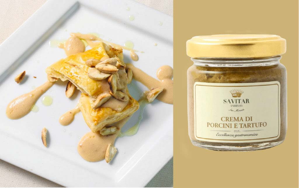 Saccottino with truffle and porcini mushrooms
