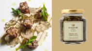 Cubi di manzo con salsa del tartufaio e crema di fagioli cannellini